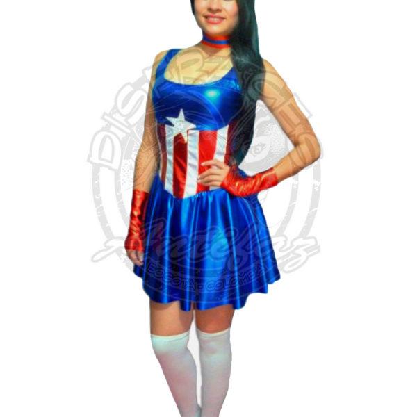 Antifaz Disfraces Bogota Capitan America Mujer